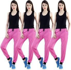 Dee Mannequin Self Design Women's Pink, Pink, Pink, Pink Track Pants