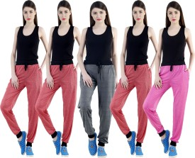 Dee Mannequin Self Design Women's Red, Red, Red, Grey, Pink Track Pants