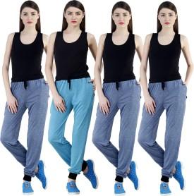 Dee Mannequin Self Design Women's Dark Blue, Dark Blue, Dark Blue, Blue Track Pants