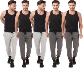 Meebaw Self Design Men's Grey, Grey, Grey, Grey, Grey Track Pants - TKPEHRYYZGVTYCUU