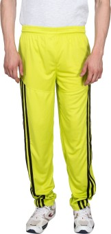 Xplore Yellow Solid Solid Men's Track Pants