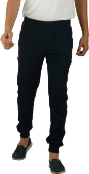 Kanter Solid Men's Dark Blue, Red Track Pants