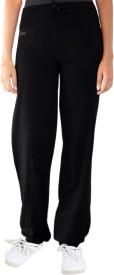 Ativo Solid Girl's Black Track Pants