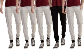Gaushi Solid Men's Grey, Grey, Grey, Grey, Black Track Pants - TKPEJMJMAVFYXEGM