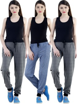 Dee Mannequin Self Design Women's Dark Blue, Grey, Grey Track Pants