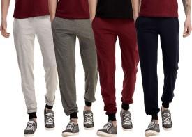 Gaushi Solid Men's Grey, Grey, Maroon, Dark Blue Track Pants