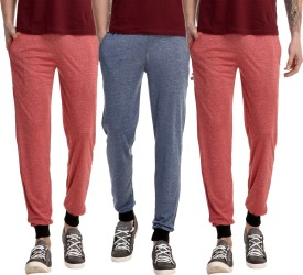 Gaushi Solid Men's Red, Red, Dark Blue Track Pants