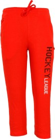 Bodycare Solid Boy's Red Track Pants