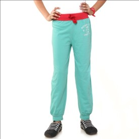 Menthol Fashion Printed Girl's Green, Red Track Pants