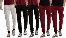 Gaushi Solid Men's Grey, Black, Black, Maroon, Maroon Track Pants