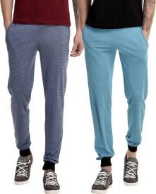 Gaushi Solid Men's Dark Blue, Blue Track Pants