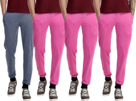 Gaushi Solid Men's Dark Blue, Pink, Pink, Pink Track Pants