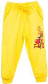 Oye Printed Boy's Gold Track Pants