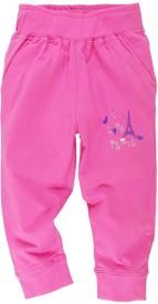 Oye Printed Girl's Pink Track Pants