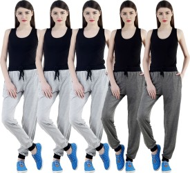 Dee Mannequin Self Design Women's Grey, Grey, Grey, Grey, Grey Track Pants