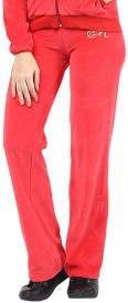 Harpa Solid Women's Red Track Pants