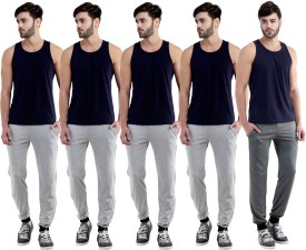 Dee Mannequin Self Design Men's Grey, Grey, Grey, Grey, Grey Track Pants