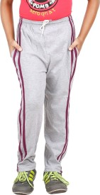 Meril Solid Boy's Grey Track Pants