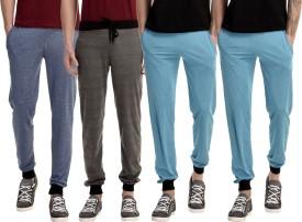 Gaushi Solid Men's Dark Blue, Grey, Blue, Blue Track Pants