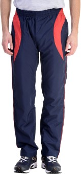 Pure Play Solid Men's Dark Blue, Red Track Pants