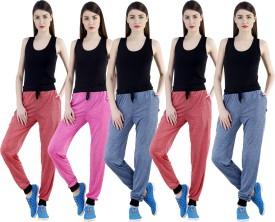Dee Mannequin Self Design Women's Red, Red, Dark Blue, Dark Blue, Pink Track Pants