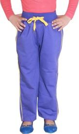 Shaun Sweatshirt Solid Girl's Blue Track Pants