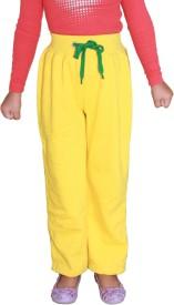 Shaun Sweatshirt Solid Girl's Yellow Track Pants