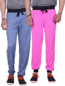 Gag Wear Solid Men's Dark Blue, Pink Track Pants