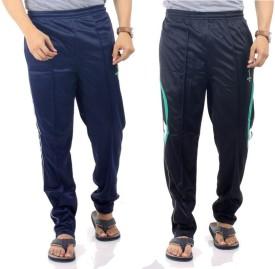 Wajbee Solid Men's Multicolor Track Pants
