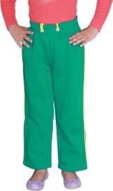 Shaun Sweatshirt Solid Girl's Green Track Pants