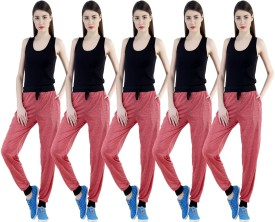 Dee Mannequin Self Design Women's Red, Red, Red, Red, Red Track Pants
