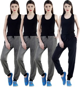 Dee Mannequin Self Design Women's Grey, Grey, Grey, Black Track Pants