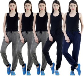 Dee Mannequin Self Design Women's Grey, Grey, Grey, Black, Dark Blue Track Pants