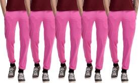 Gaushi Solid Men's Pink, Pink, Pink, Pink, Pink Track Pants