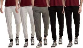 Gaushi Solid Men's Grey, Grey, Grey, Black, Black Track Pants