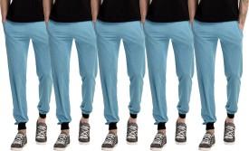 Gaushi Solid Men's Blue, Blue, Blue, Blue, Blue Track Pants