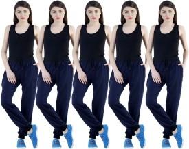 Meebaw Self Design Women's Dark Blue, Dark Blue, Dark Blue, Dark Blue, Dark Blue Track Pants