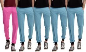 Gaushi Solid Men's Pink, Blue, Blue, Blue, Blue Track Pants