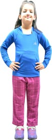 Shaun Printed Girl's Purple Track Pants