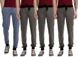 Gaushi Solid Men's Dark Blue, Grey, Grey, Grey Track Pants