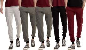 Gaushi Solid Men's Grey, Grey, Grey, Black, Maroon Track Pants