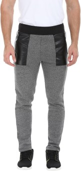 Zobello Solid Men's Grey, Black Track Pants