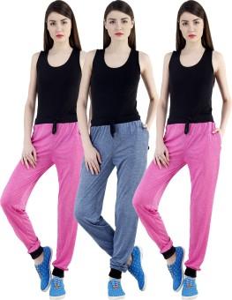 Dee Mannequin Self Design Women's Dark Blue, Pink, Pink Track Pants