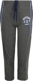 Jazzup Solid Boy's Grey Track Pants