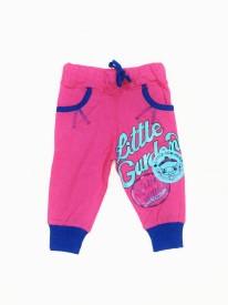 Tomato Printed Girl's Pink Track Pants