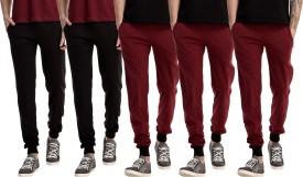 Gaushi Solid Men's Black, Black, Maroon, Maroon, Maroon Track Pants