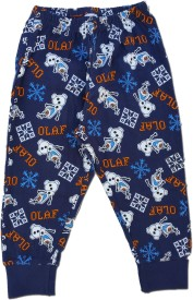 kuddle kid Printed Boy's Blue Track Pants