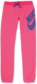 Nike Kids Graphic Print Girl's Pink Track Pants