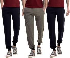 Gaushi Solid Men's Grey, Dark Blue, Dark Blue Track Pants