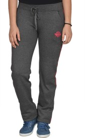 Smart Lady Solid Women's Grey Track Pants